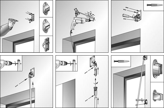 Установка системы управления для рольставней, установленных снаружи